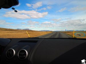 Car view of Iceland