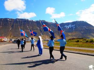 Icelanders on National Day