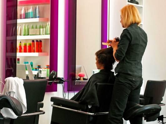 Tara Getting Her Hair Cut