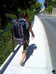 Tara Walking With Pack