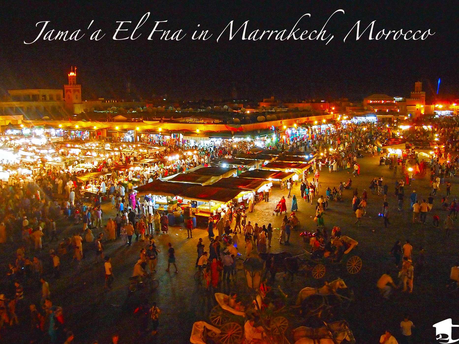 Jama'a el Fna in Marrakech, Morocco