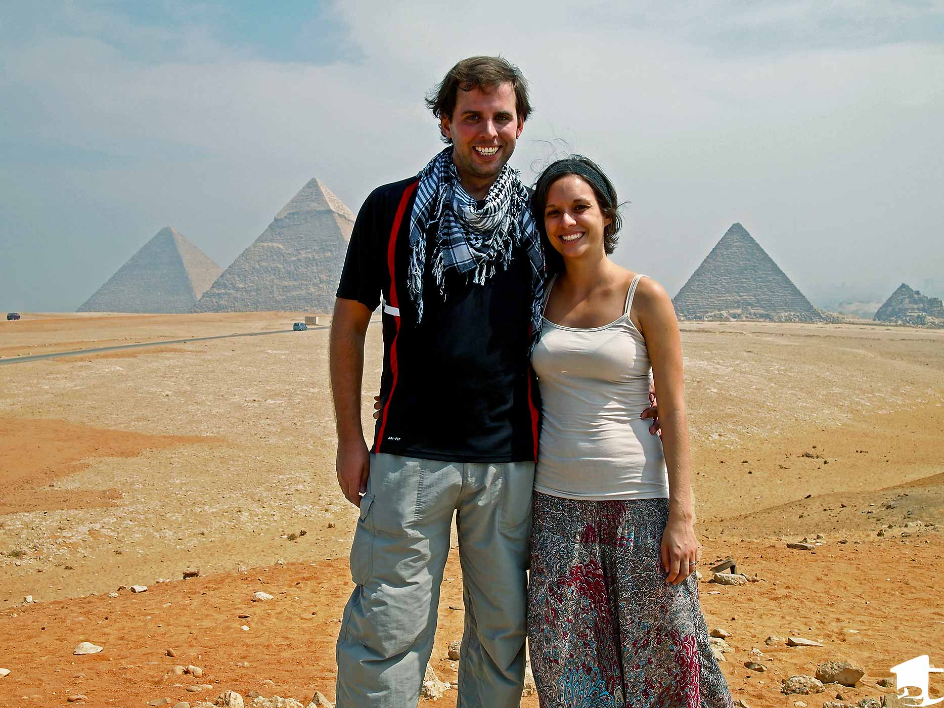 Mike and Tara at the Giza Pyramids