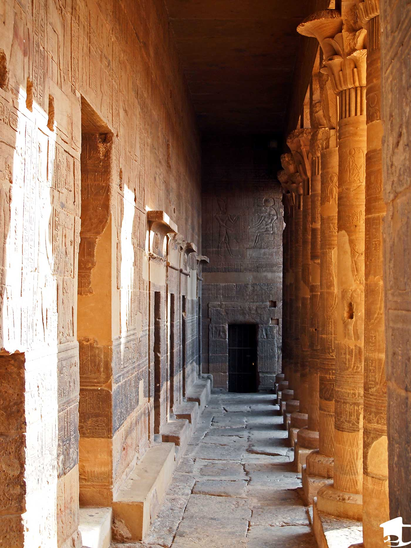 Columns inside Philae Temple