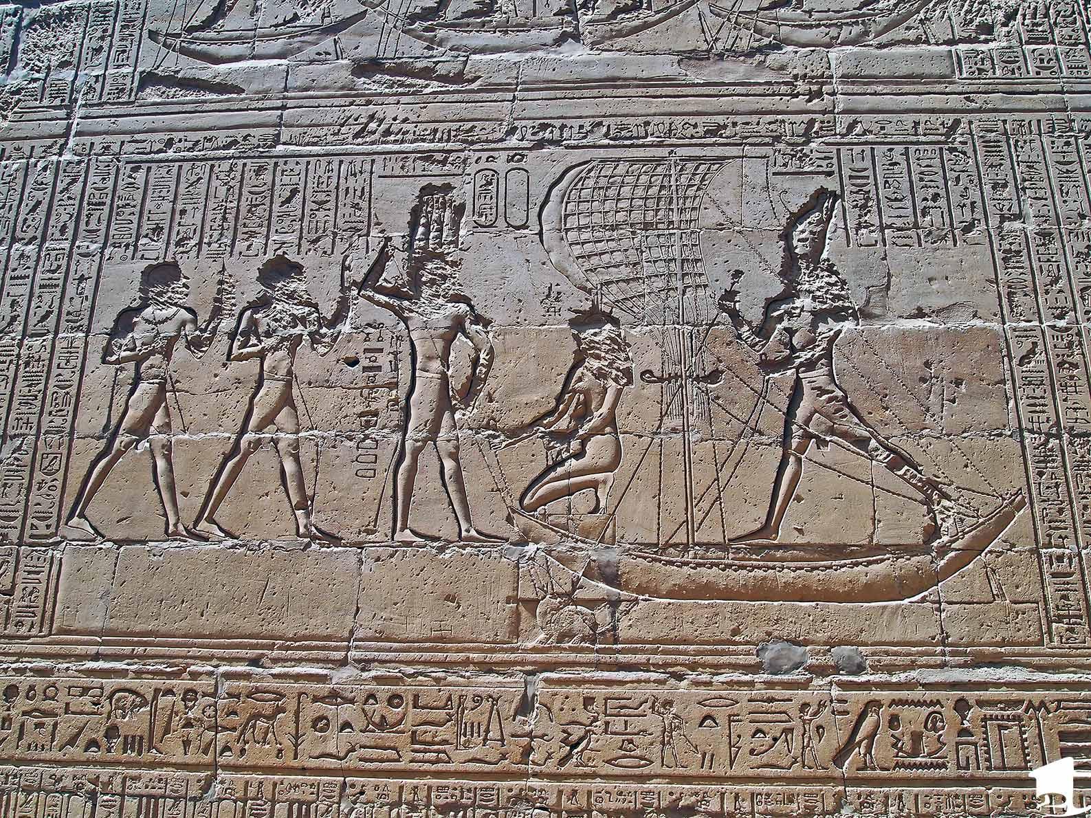 Depiction of a saga at Edfu