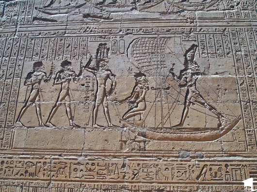 Depiction of a saga at Edfu