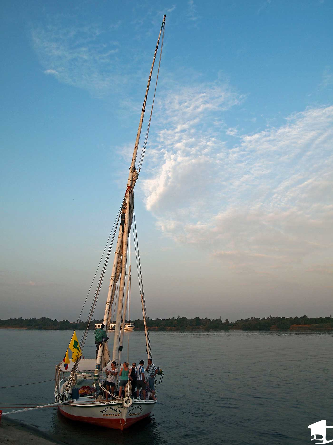 Our felucca docked