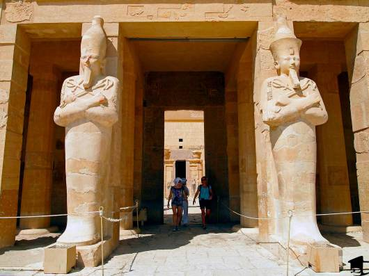 Statues in the Temple of Hatshepsut