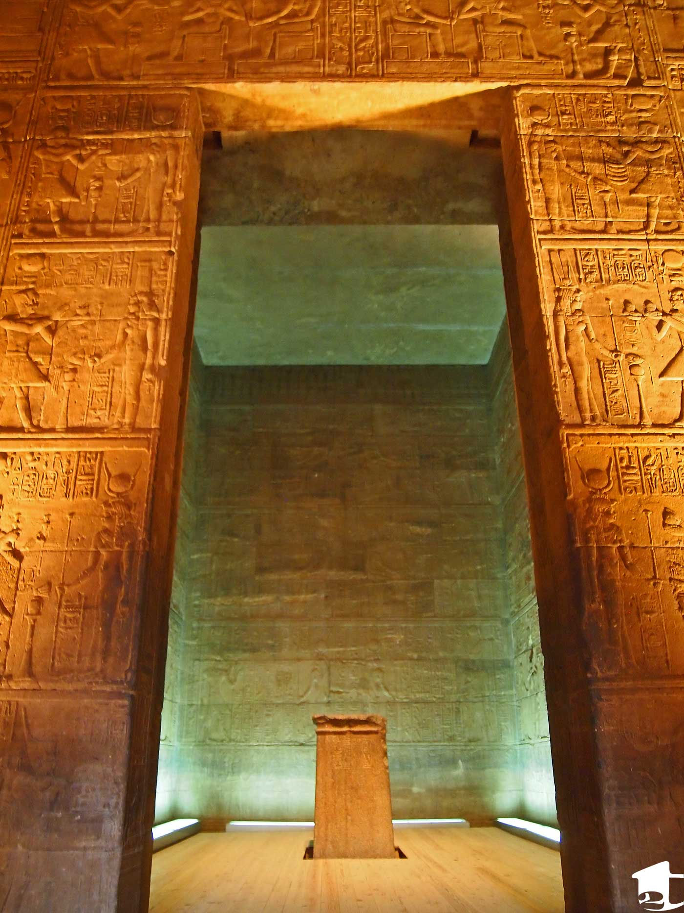 The Holy of the Holies room inside Philae Temple