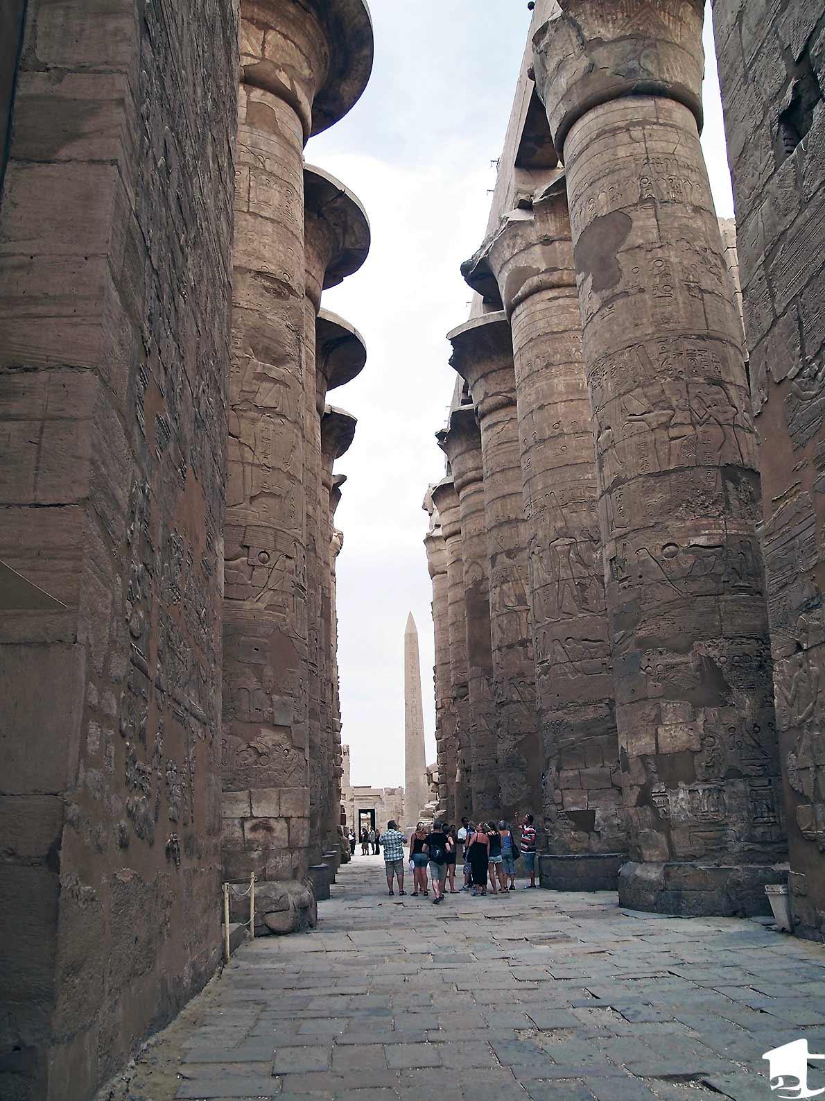 Enormous pillars at Karnak