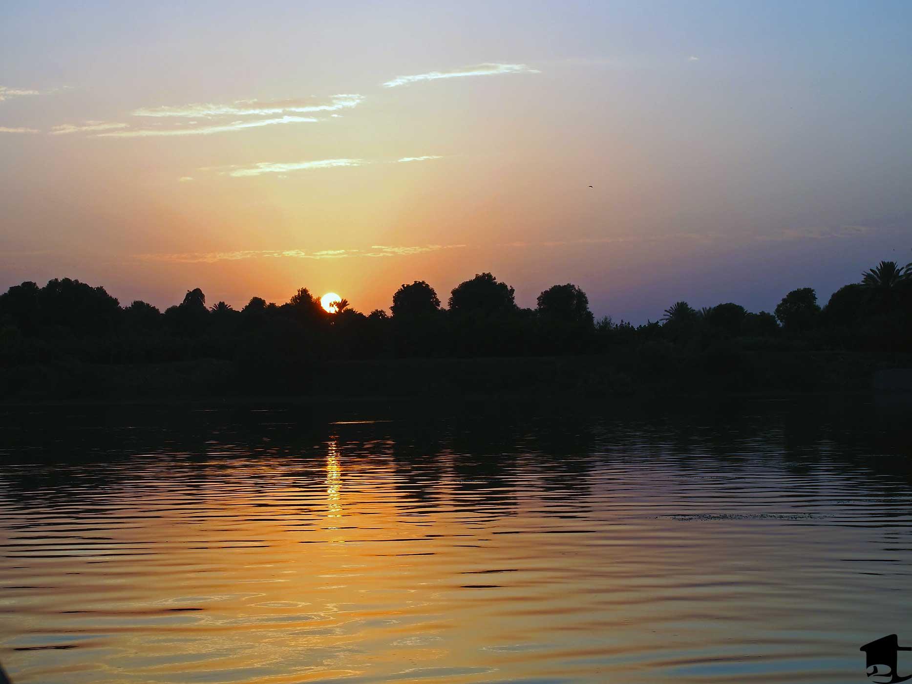 Beautiful Nile-view sunset