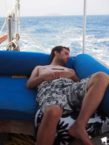 Mike Relaxing on a Boat in Turkey