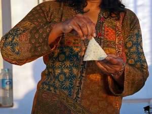 Folding a Samosa