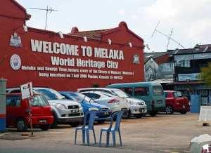 Melaka's UNESCO Sign