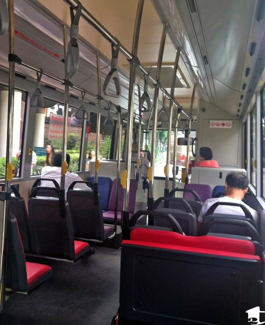 The View From Inside A Singapore Bus