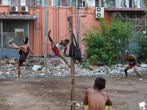 Men Playing Chinlon