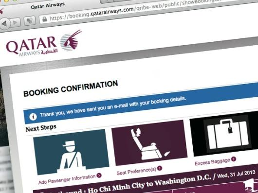 Qatar Booking Confirmation