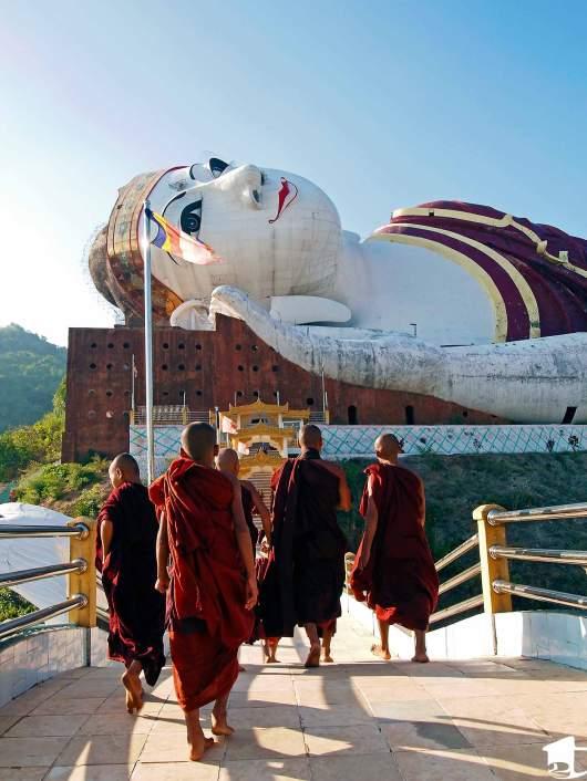 Monks Walking Up