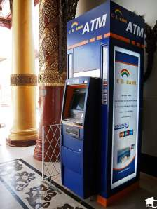 ATM at Shwedagon Paya