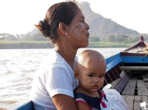 Myanmar Woman and Child