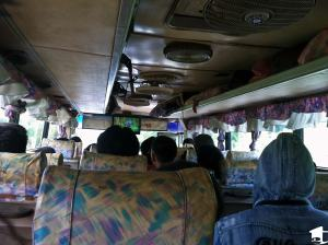Inside a Laos Bus