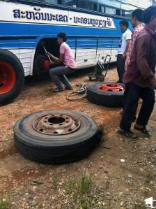 Replacing a Blown Tire