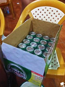 A case of Huda beer