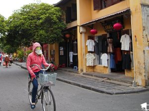 Dressed for the weather in Hoi An, Vietnam