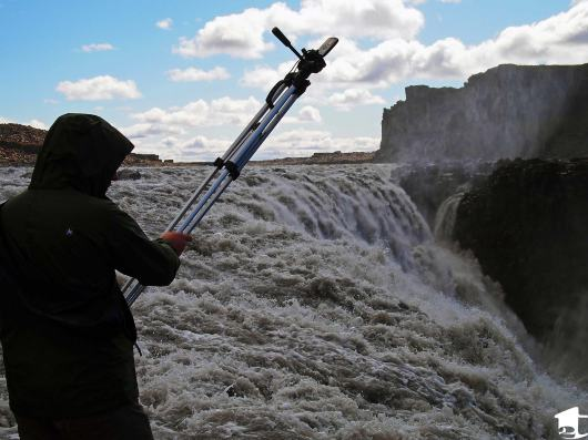 Mike Filming at Dettifoss