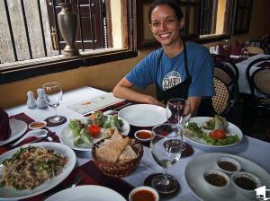 Enjoying a Post-class Meal
