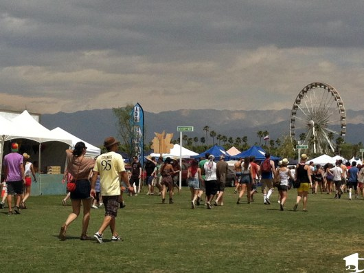 Walking around Coachella