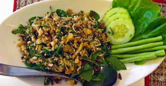 Tofu Larb in Vientiane, Laos